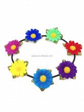 hair accessories 2016 latest design cute infant artificial flowers headbands for baby teen girls flower