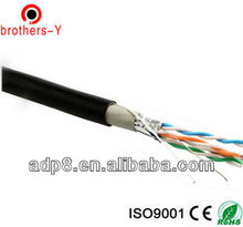 outdoor cat5e ftp shield CCAM 0.5mm lan cable PVC+PE jacket