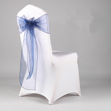 New design crystal organza chair sash