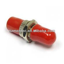 Simplex Fiber Optic ST MM Adaptor with Red Sleeve --- Telecommunication Adapter