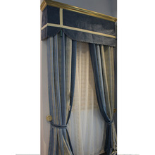 polyster Ceiling Drapery Fabric Window Curtains Supply