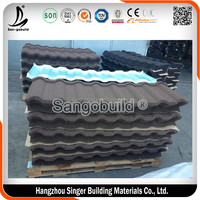 Guangzhou Factory Cheap Color Metal Roofing Material Stone Coated Roof Tile