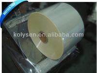 Clear Cast PVC Shrink Film for label application