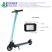 2017 HTOMT Portable Folding Kick Skateboard Self Balance Electric Foldable aluminum alloy Scooter for CE/FCC/ROHS Hover board