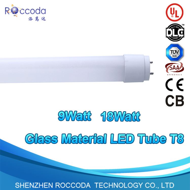 100lm 2700-6500k 9w 600mm ballast compatible led vde listed led tube led t8 fluorescent lamp