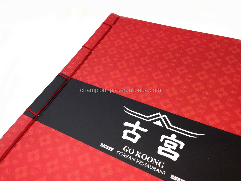 Stylish High Quality Printed Menu Covers