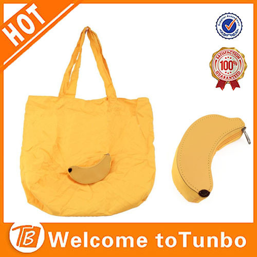new products banana shape fancy shopper folding supermarket shopping bag