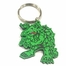 Promotional Gifts Custom Soft PVC Keychain 3D PVC Rubber Carton Cute Key Chain