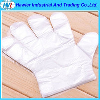100% Latex free Disposable PE Gloves for cleaning and nursing