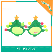 Party Funny Pastic Green Christmas Tree Shaped Glasses