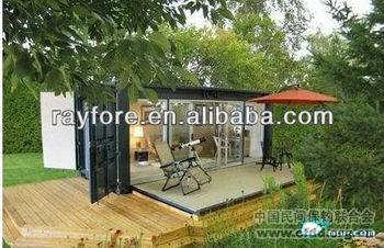 container garden house with shipping container