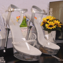 6 Inch Clear High Heel Shoes Elegant Dress Shoes Wholesale Gladiator Sandal Latest Transparent Rhinestone Crystal High heels