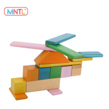 MNTL 60 Piece 3D Puzzle Wooden Toy Mag Wisdom Magnetic Toys Wood Popular DIY Educational Toy