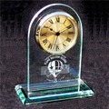 Noble K9 Crystal Small Golden Desk Clock For Business Gift.