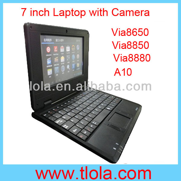 7 inch Android 4.2 Via8880 CPU Front Camera Laptop