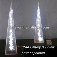 PVC lighting pyramid, Christmas Decoration, LED PVC festival ornament
