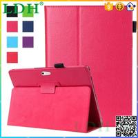 PREMIUM RED 2 FOLDING PU LEATHER CASE SMART STAND COVER FOR MICROSOFT SURFACE PRO 4
