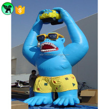 Opeining Advertising Cartoon Inflatable Gorilla Animal Model For Car Promotion A466
