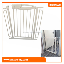 white color metal adjustable safety baby door gate