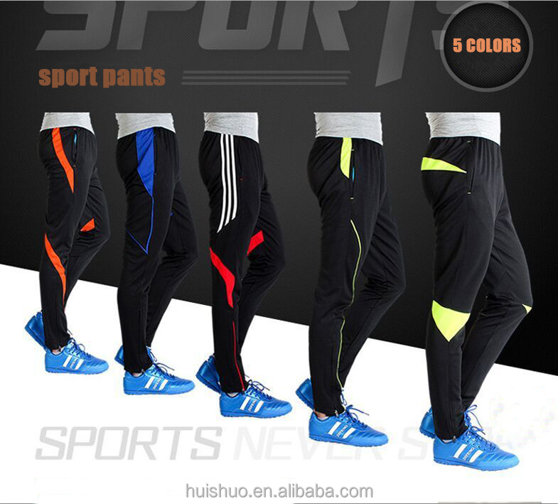 2016 new soccer training pants cheap mens sports polyester track pants