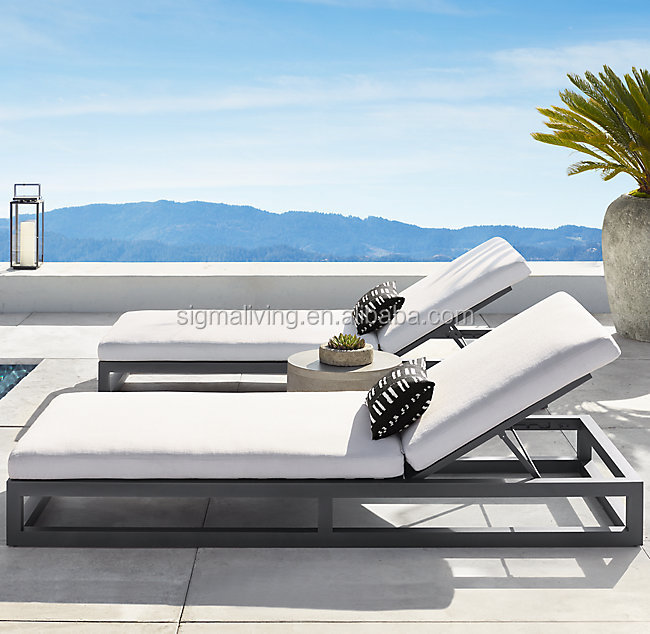 New arrival modern design classic outdoor furniture superior materials aluminum customizable sectional sofa