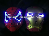 Iron Man Mask with Blue LED Eyes Make up Kids Boys