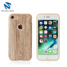 new arrival wood grain TPU+hard pc mobile phone case cover for iphone 7 back cover