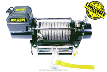 Off Road Jeep Land Cruiser Winch 12000lbs Electric 12V 24V Winch NVT12000