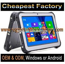 Cheapest Factory 10 Inch Windows 10 Ruggedized Tablet With Fingerprint Scanner And Barcode Scanner