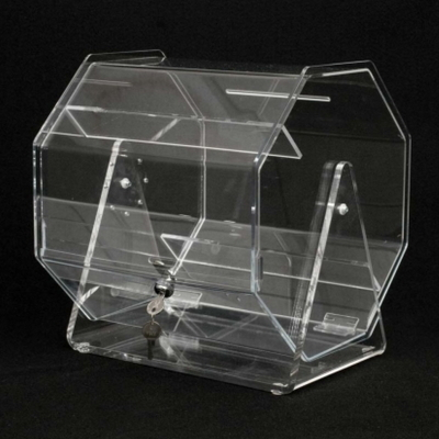 Acrylic Raffle Drum Ticket Barrel rotatable