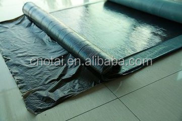 1.5mm black wide self-adhesive polymer pre-pave waterproof membrane / construction / roofing sheet / waterproofing/subway