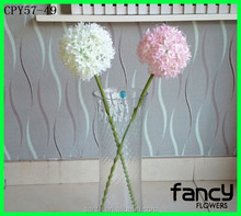 Cheap artificial hydrangea flower for home decoration single stem white silk hydrangea made in China