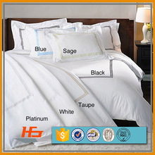 Hotel cotton fabric embroidery duvet cover set