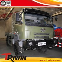 manufacturer dealer 6 ton 7 ton 8 ton EURO 4 diesel engine 260hp 4WD cheap light military cargo truck 4X4