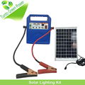 2016 New Design 10w Mini Solar Kit Lighting Home System with Car Charger