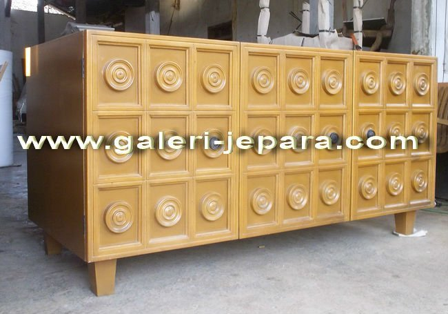 Cabinet Design for Living Room Home - Wooden Mahogany TV Cabinet - Furniture Indonesia