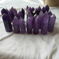 natural transparent amethyst crystal points