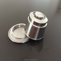 Customized stainless steel coffee refillable capsule/pods