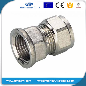 Brass Compression Fittings for Pex-Al-Pex Pipes - Straight Female Coupler