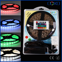 5M SMD RGB 5050 Waterproof LED Strip light 300 & 44 Key IR Remote & 12V 5A power