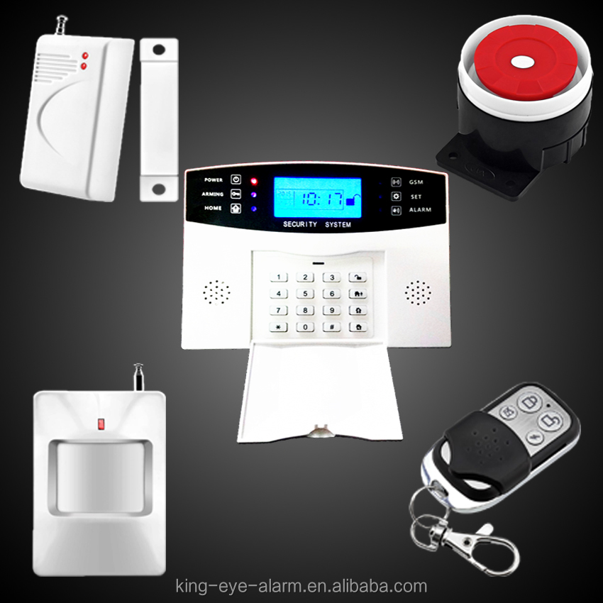 Easy to install self monitoring home intruder gsm wireless security alarms with built in antenna