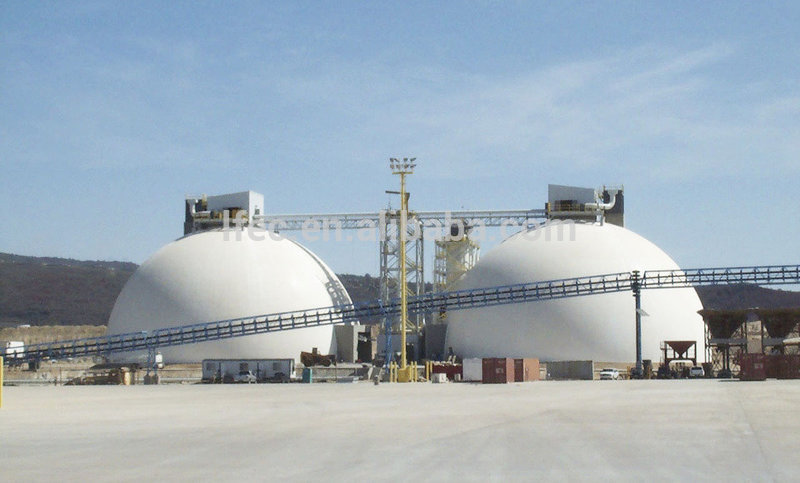 Large Span Steel Structure Stainless Steel Dome Cover For Coal Storage