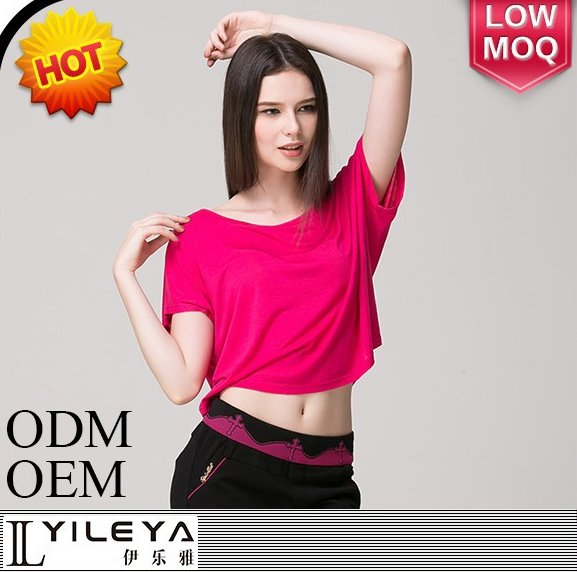 Diaphanous loose ladies short sleeve t-shirt