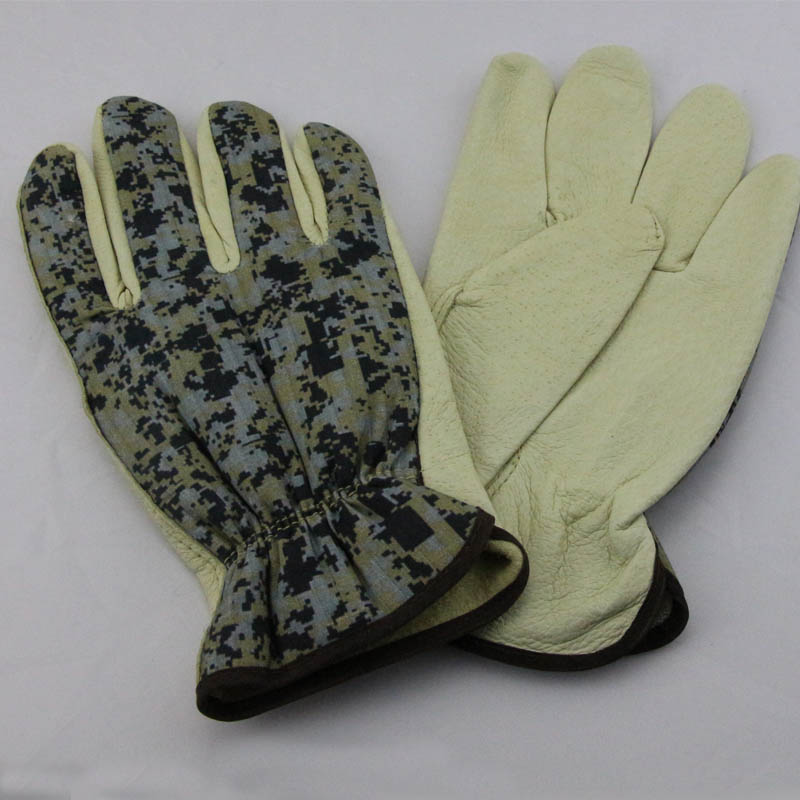 softtextile leather men safety gloves bus driving gloves