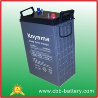 VRLA Solar Deep Cycle battery 6V380Ah for golf cart