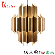 Kenier Perfect Quality Brass Glass Resin Retractable Pendant Restaurant Ceiling Light Fixtures Lamp