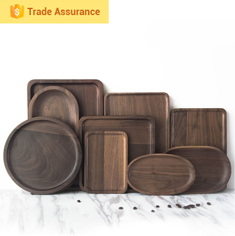Cao country manufacturer Archaize black walnut wooden tray
