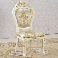 Hotel furniture chairs gold styling banquet armchairs with antique wooden carving