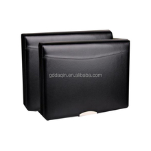 wholesale custom A4 Business genuine leather portfolio file folder