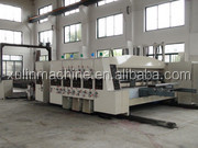 Flute corrugated paperboard flexo printing/Auto high speed carton flexo print machine